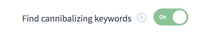 Find keyword cannibalization